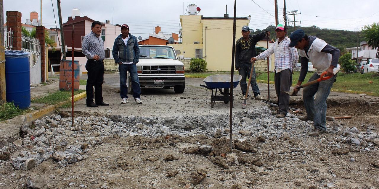 "Supervisa alcalde rehabilitación de la colonia ""Tajín"""