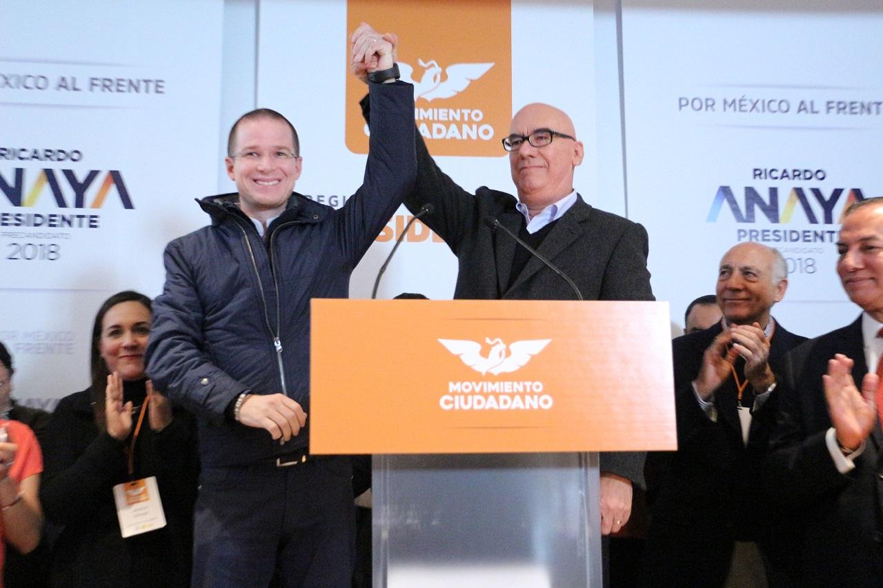 Esta mañana, Ricardo Anaya Cortés, se registró ante la Comisión Nacional de Convenciones y Procesos Internos de Movimiento Ciudadano, como precandidato a la Presidencia de la República por esta organización política: Regional