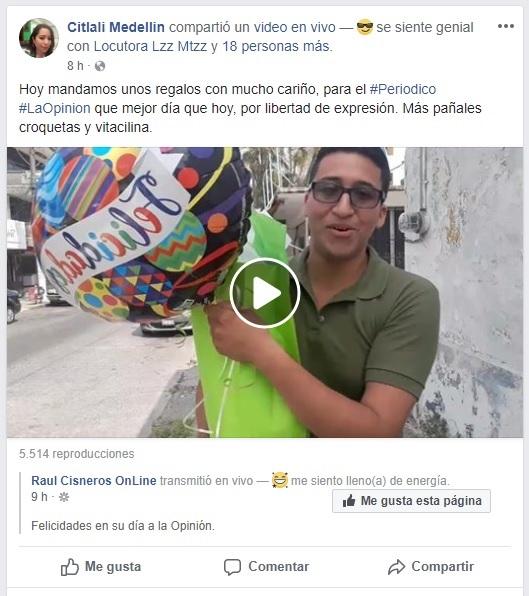 Citlalí Medellín se mofa del gremio periodístico en el marco del día de la libertad de Expresión.