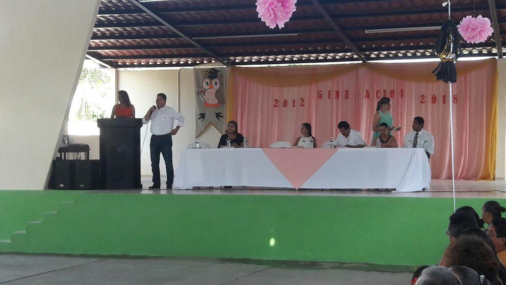 Juan Cano apadrina la primaria urbana Profr. Filiberto Román Lima