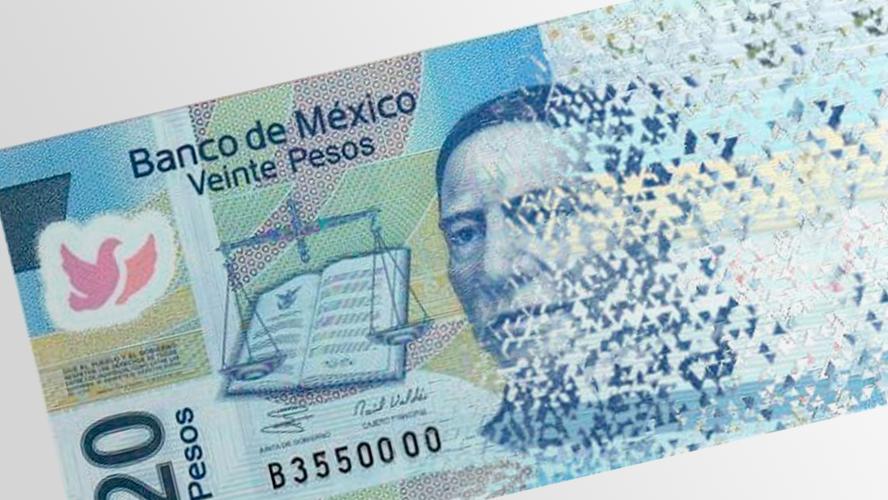 Desaparecerá el billete de 20 pesos