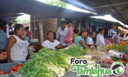 Tianguistas de Tamiahua con bajas ventas