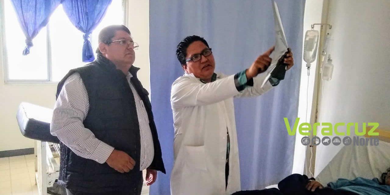 ALCALDE VISITÓ PACIENTESDEL HOSPITAL EMILIO ALCÁZAR