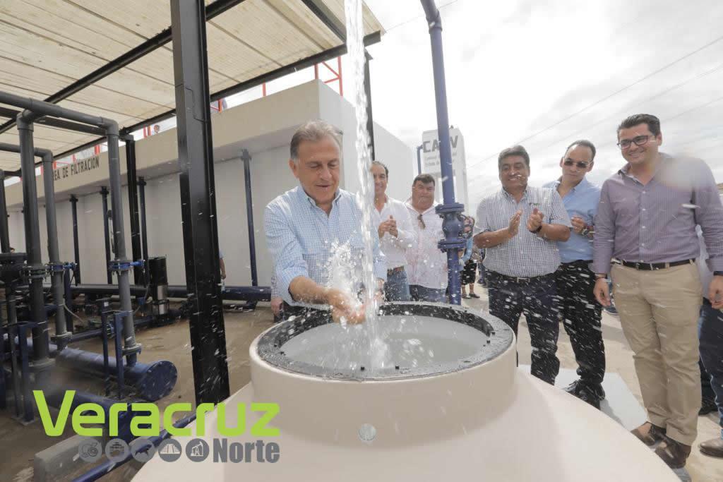 Más de 130 mil veracruzanos con agua potable con el Sistema Meganorte
