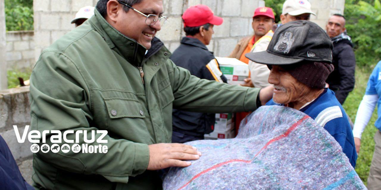 Apoyan a 216 familias por arribo de frente frío no. 10