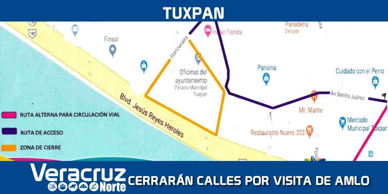 Cierre de calles por la visita del Presidente de México