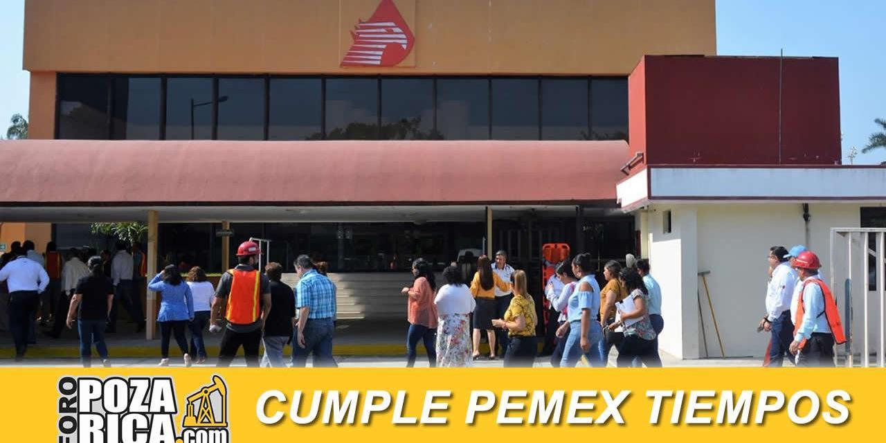 Cumple Pemex con tiempos adecuados en evacuación por emergencia