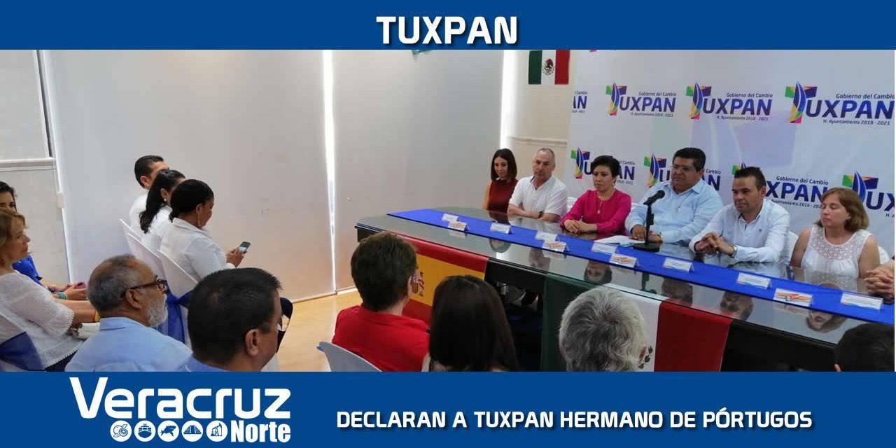 Declaran a Tuxpan HERMANO de Pórtugos, España
