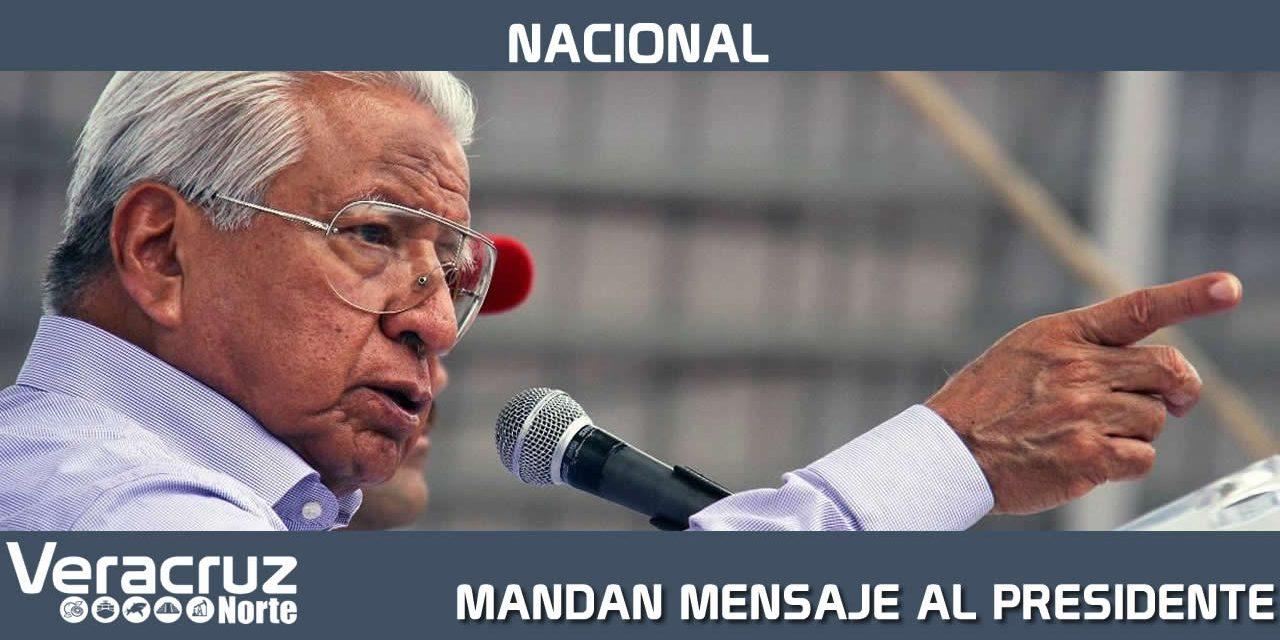 LÍDER DE ANTORCHA MANDA MENSAJE AL PRESIDENTE