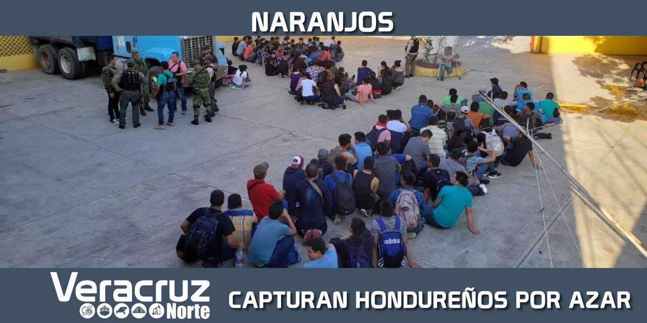 Capturan a 143 migrantes hondureños por azar