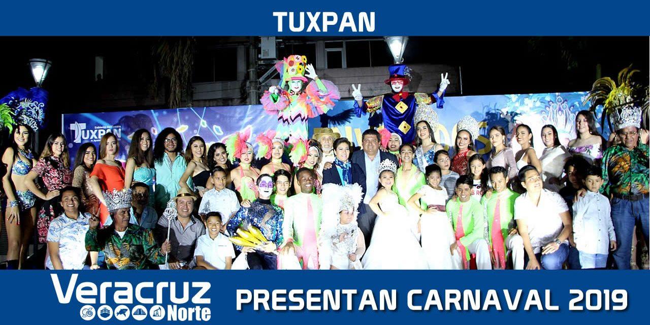 Espectacular presentación del elenco artístico del Carnaval Tuxpan 2019
