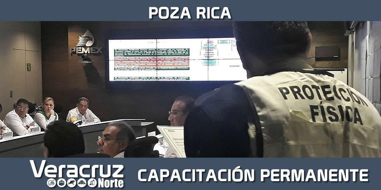 Capacitación permanente en Poza Rica, para atender incidentes
