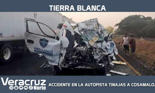 ACCIDENTE SOBRE LA AUTOPISTA TINAJAS A COSAMALOAPAN