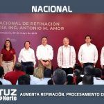 AUMENTA REFINACIÓN, PROCESAMIENTO DE CRUDO Y PRODUCCIÓN