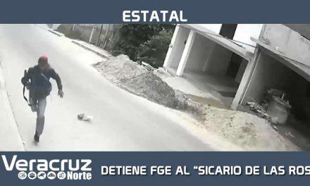 """DETIENE FGE AL """"SICARIO DE LAS ROSAS"""""""