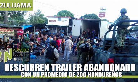 DESCUBREN TRAILER CON UN PROMEDIO DE 200 HONDUREÑOS