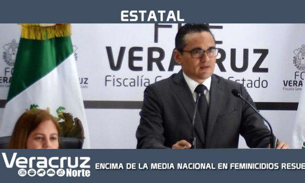 POR ENCIMA DE LA MEDIA NACIONAL EN FEMINICIDIOS RESUELTOS