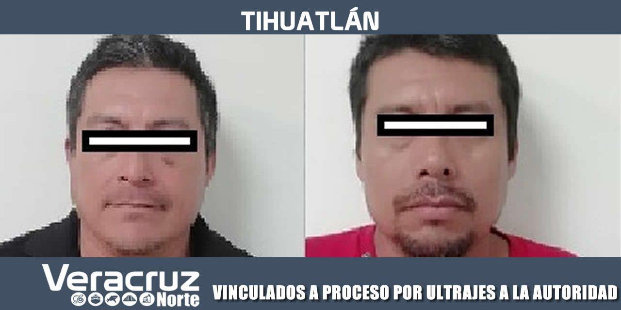 VINCULADOS A PROCESO POR ULTRAJES A LA AUTORIDAD
