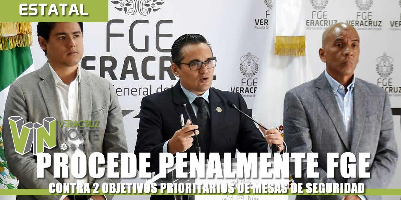 PROCEDE PENALMENTE FGE CONTRA 2 OBJETIVOS PRIORITARIOS