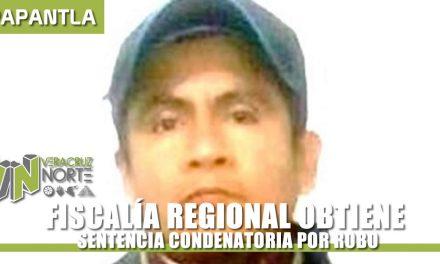 OBTIENE FISCALÍA REGIONAL SENTENCIA CONDENATORIA POR ROBO