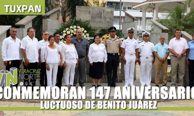 CONMEMORAN 147 ANIVERSARIO LUCTUOSO DE BENITO JUÁREZ