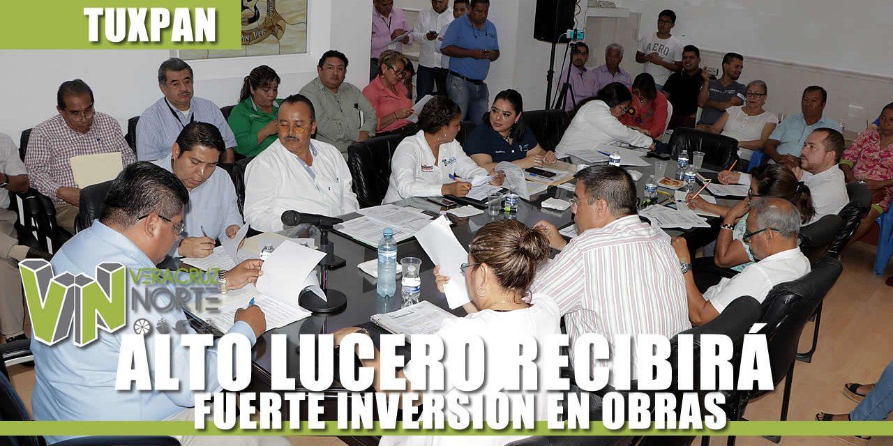 ALTO LUCERO RECIBIRÁ FUERTE INVERSIÓN EN OBRAS