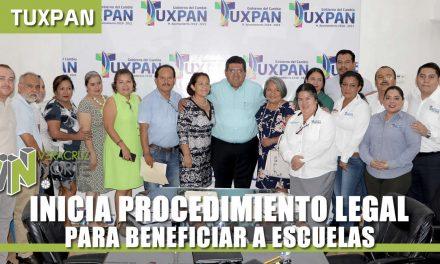 INICIA PROCEDIMIENTO LEGAL PARA BENEFICIAR A ESCUELAS