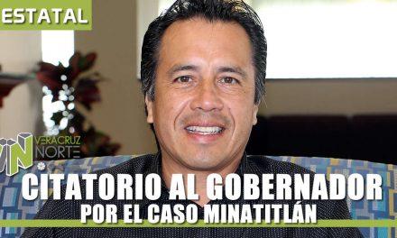 CITATORIO AL GOBERNADOR POR EL CASO MINATITLÁN