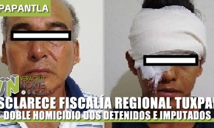 ESCLARECE FISCALÍA REGIONAL DOBLE HOMICIDIO