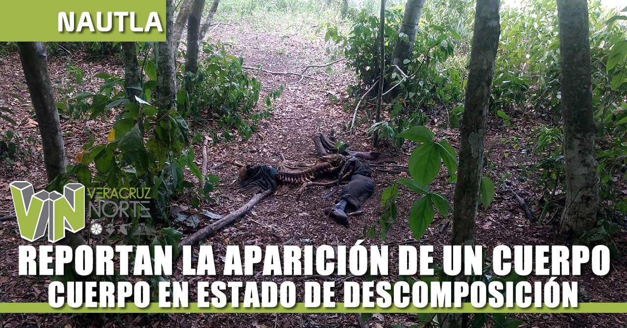 REPORTAN LA APARICIÓN DE UN CUERPO EN DESCOMPOSICIÓN