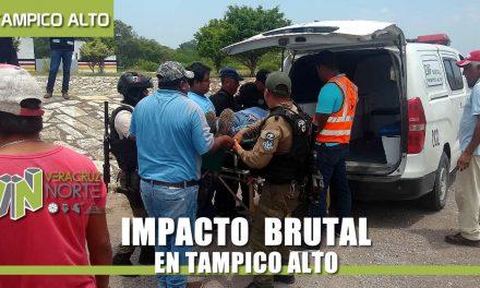 IMPACTO BRUTAL EN CARRETERA TUXPAN-TAMPICO