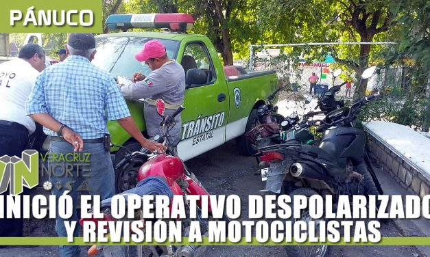 OPERATIVO DESPOLARIZADO Y REVISIÓN A MOTOCICLISTAS