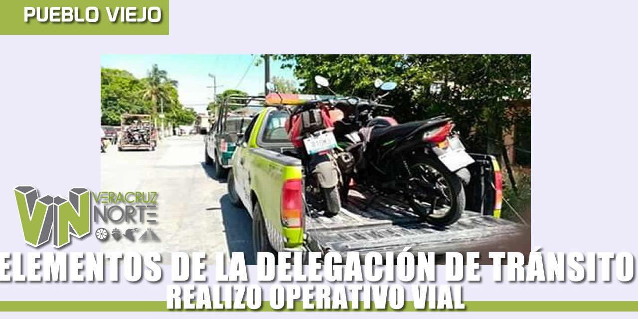 LA DELEGACIÓN DE TRÁNSITO REALIZO OPERATIVO VIAL