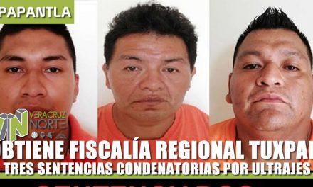 OBTIENE FISCALÍA REGIONAL TUXPAN TRES SENTENCIAS