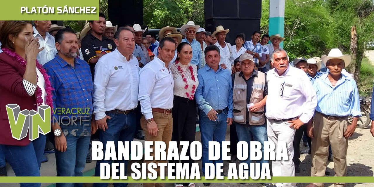 BANDERAZO DE OBRA DEL SISTEMA DE AGUA PARA LOCALIDADES