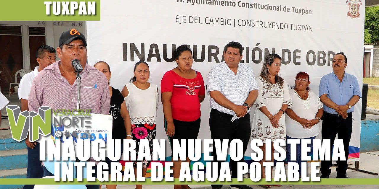 PRESIDENTE MUNICIPAL INAUGURA NUEVO SISTEMA DE AGUA