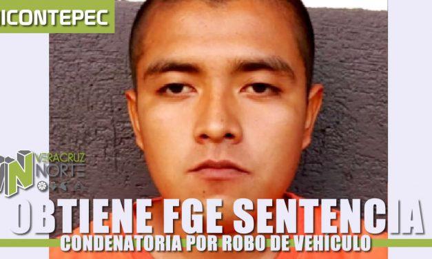 Obtiene FGE sentencia condenatoria por robo de vehículo, en Chicontepec