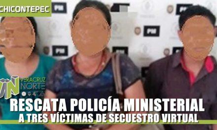 RESCATA POLICÍA MINISTERIAL A TRES VÍCTIMAS