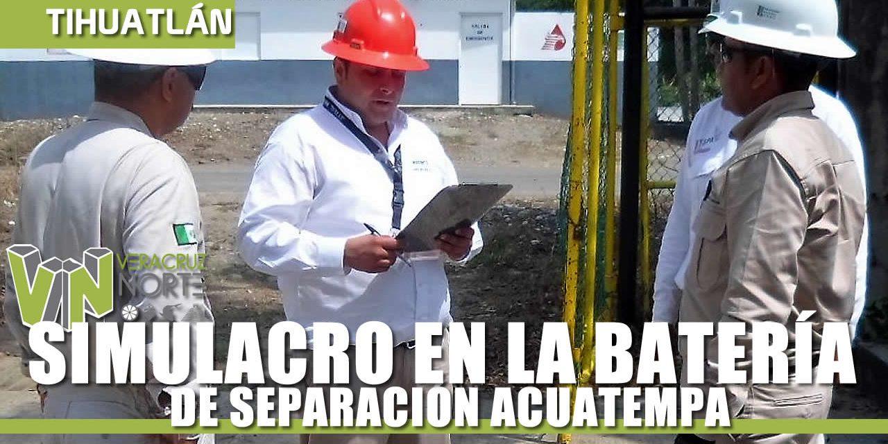 SIMULACRO EN LA BATERÍA DE SEPARACIÓN ACUATEMPA
