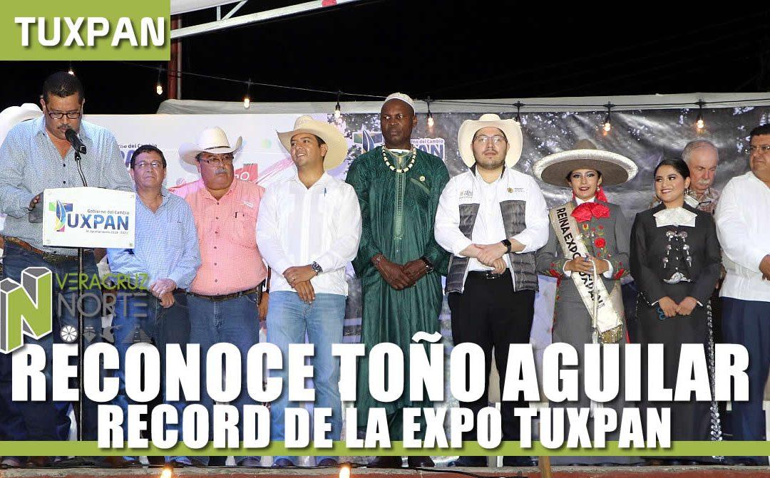 RECONOCE TOÑO AGUILAR NUEVO RECORD DE LA EXPO TUXPAN