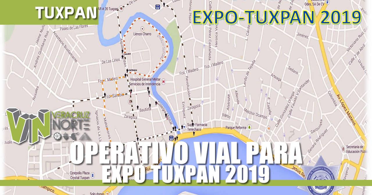 OPERATIVO VIAL PARA EXPO FERIA TUXPAN 2019