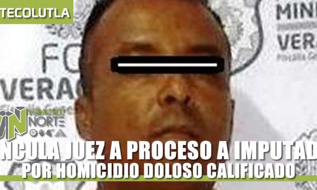VINCULA JUEZ A PROCESO A IMPUTADO POR HOMICIDIO