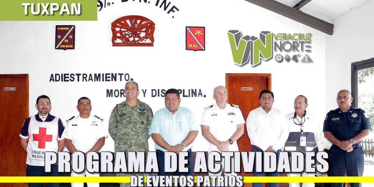 Programa de Actividades de EVENTOS PATRIOS