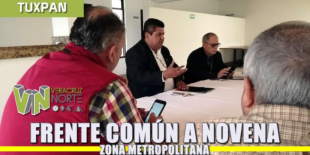 Frente común a Novena Zona Metropolitana