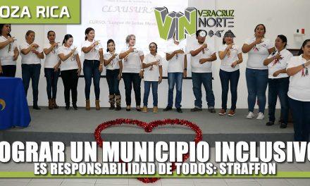 Lograr un municipio inclusivo es responsabilidad de todos: Straffon
