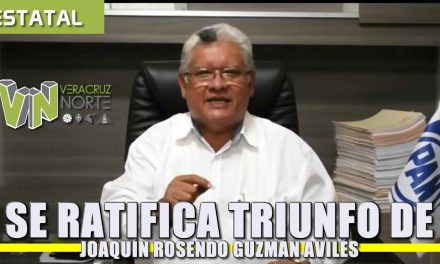 Se ratifica triunfo de Joaquin Rosendo Guzmán Avilés