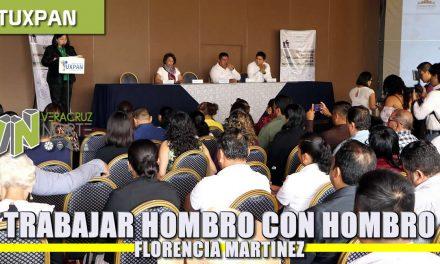 Trabajar hombro con hombro en el buen manejo de los recursos públicos: Florencia Martínez