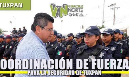 Coordinación de fuerzas base para la seguridad de Tuxpan
