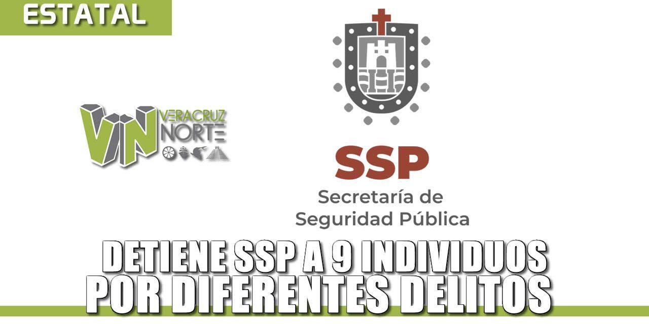 Detiene SSP a 9 individuos por diferentes delitos; recupera vehículos