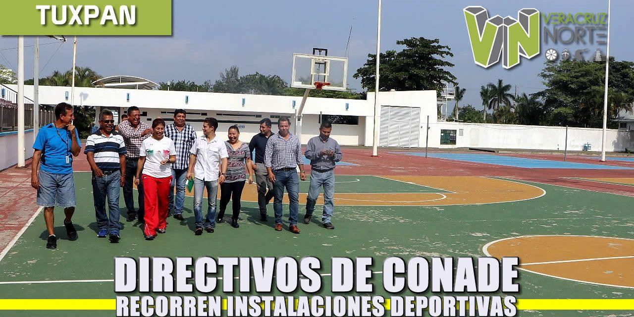 Directivos de CONADE recorren instalaciones deportivas